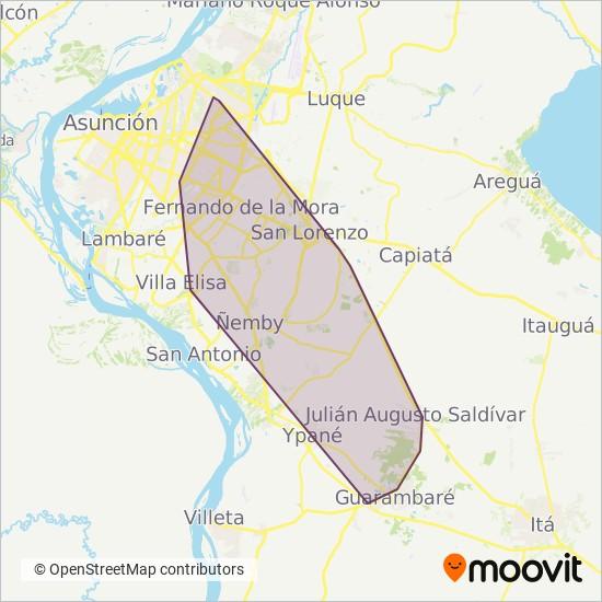 Empresa Cdad. de Guarambaré S.R.L. coverage area map