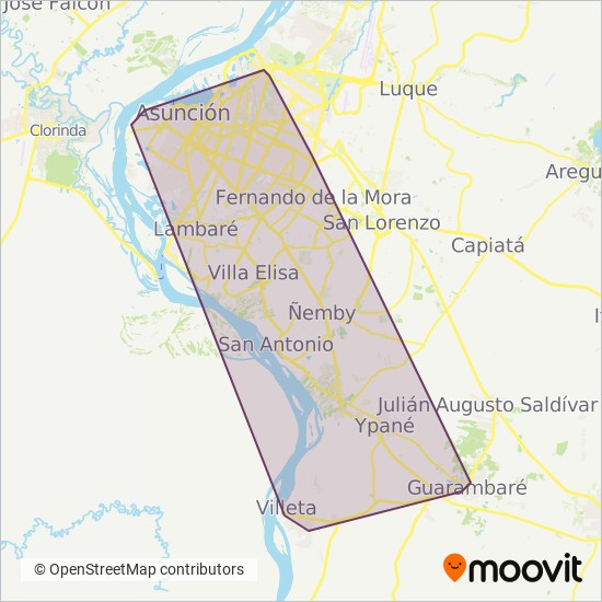 Automotores Guaraní S.A.C.I. coverage area map