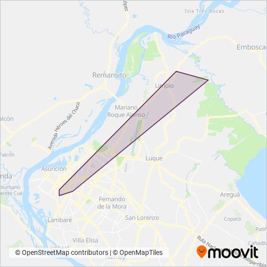 Ciudad de Limpio coverage area map
