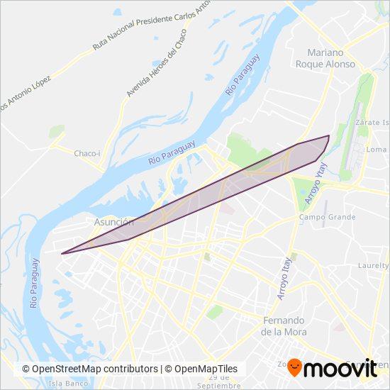 El Bus S.A. coverage area map