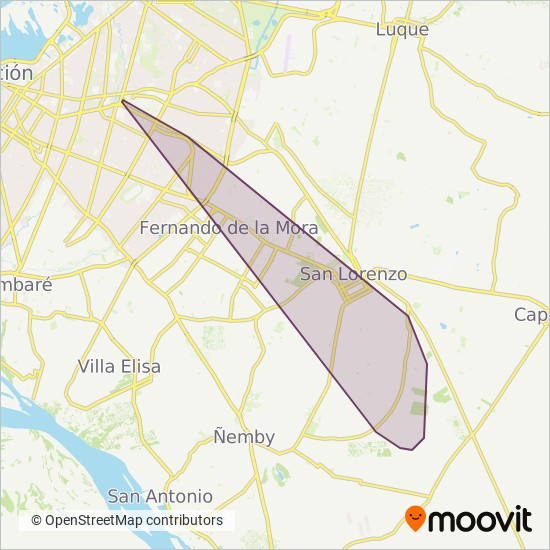 Empresa El Inter coverage area map