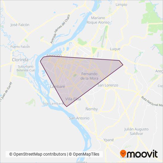 San Isidro SRL coverage area map
