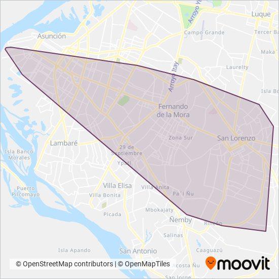 La Sanlorenzana S.A. coverage area map