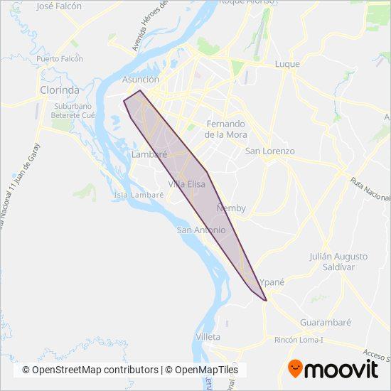Empresa Mariscal López coverage area map
