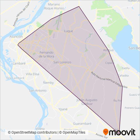 Ñanduti SRL coverage area map