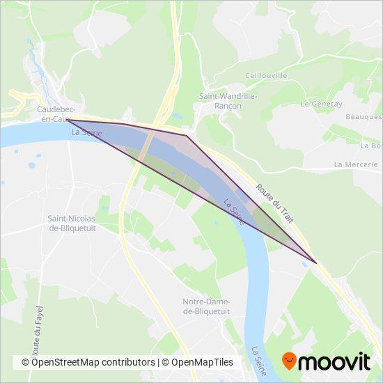 Mapa da área de cobertura da VTNI