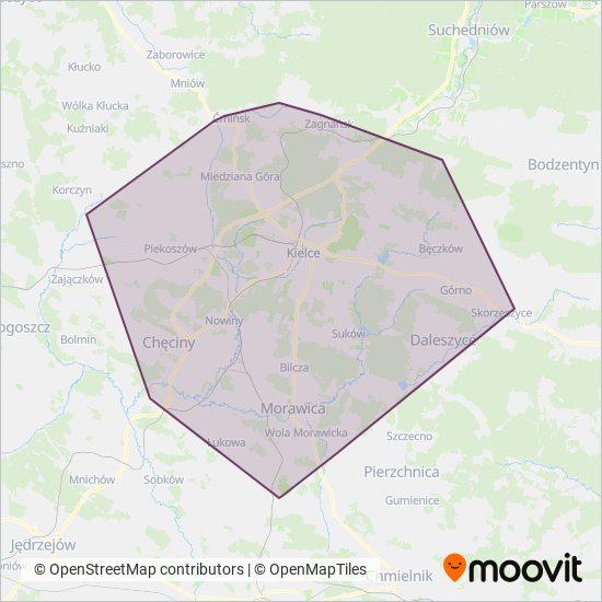 ZTM Kielce Verbundsgebiet