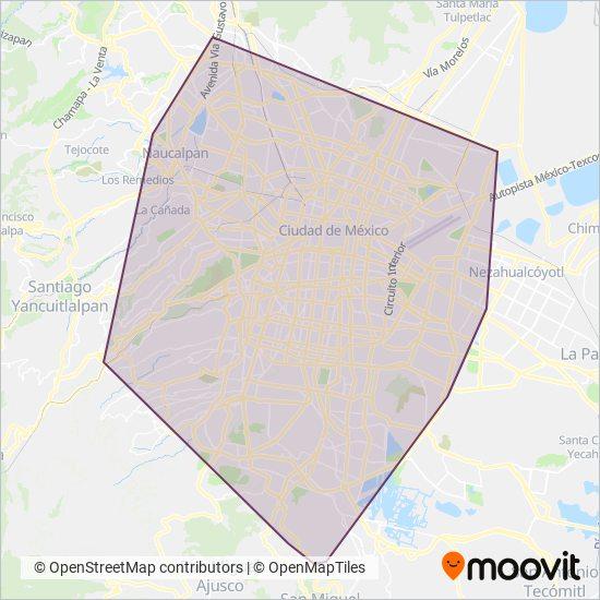 Tlalnepantla Mexico Map.Corredores Cdmx Bus Routes Bus Times In Ciudad De Mexico