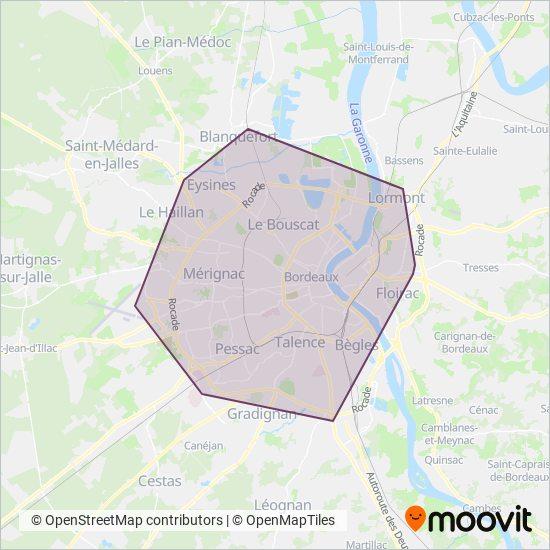 Carte Tbm Bordeaux.Lignes De Tram De Tbm Horaires De Tram A Bordeaux