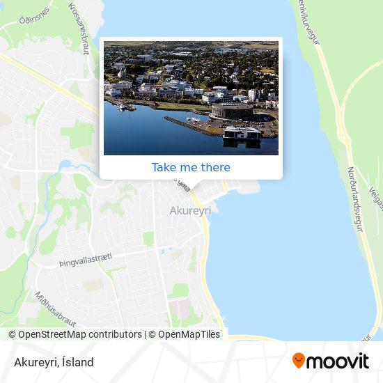 Akureyri map