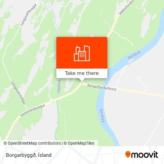 Borgarbyggð map