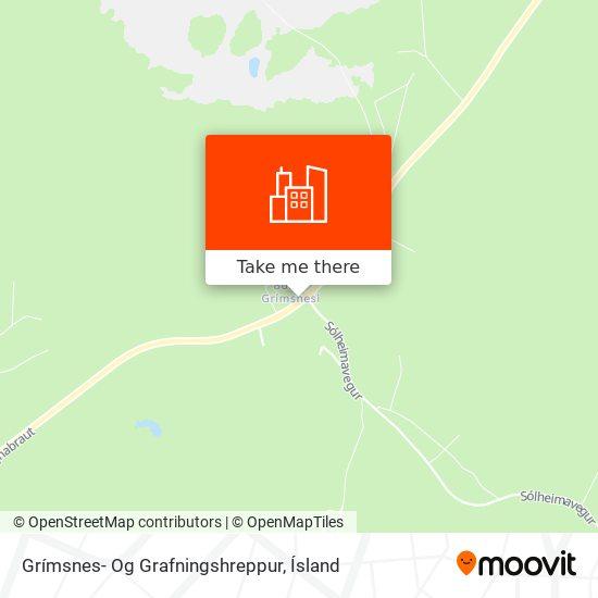 Grímsnes- Og Grafningshreppur map