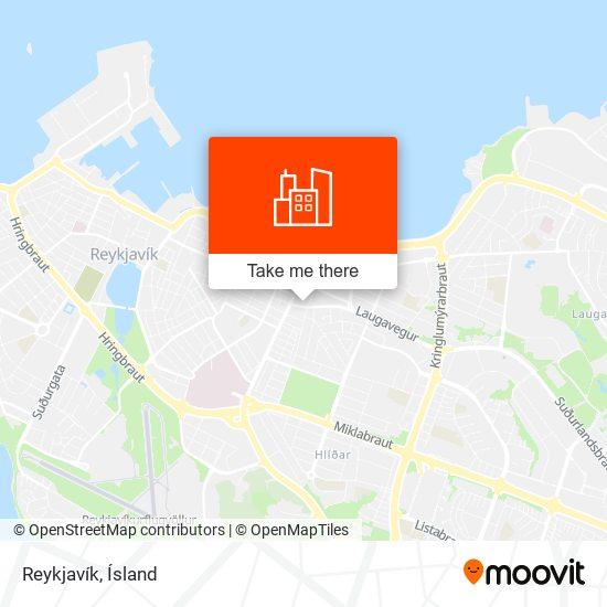 Reykjavík map
