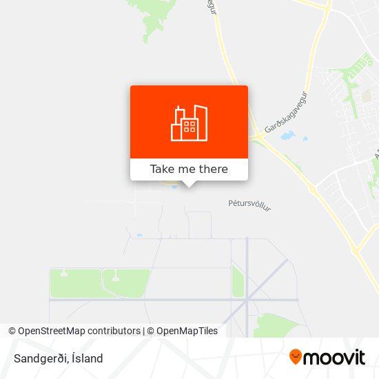 Sandgerði map
