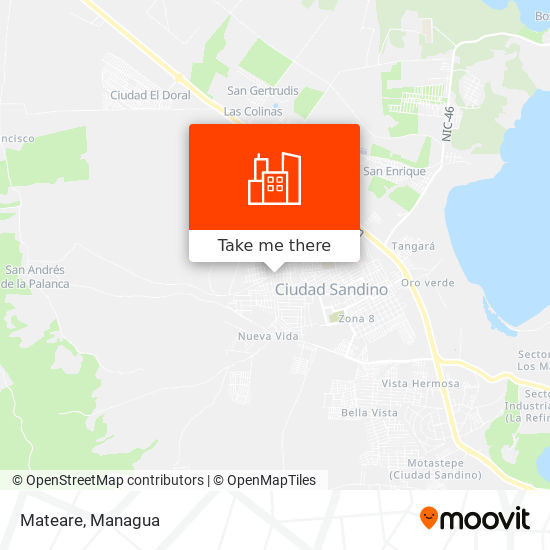Mateare map