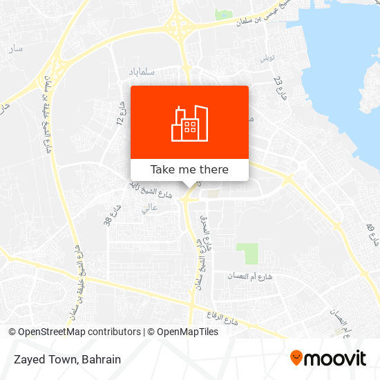 Zayed Town map
