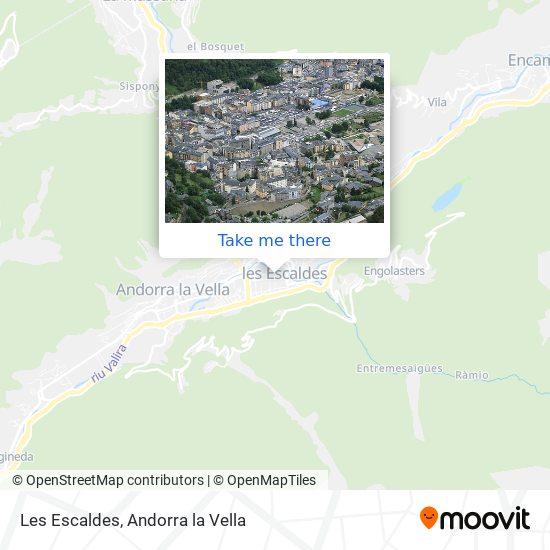 Les Escaldes map