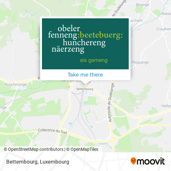 Bettembourg map