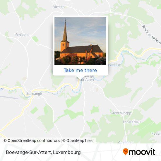 Boevange-Sur-Attert map