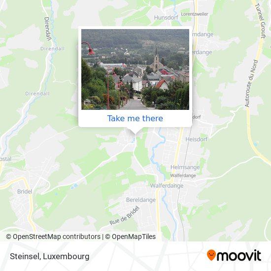 Steinsel map