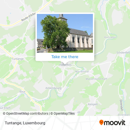 Tuntange map
