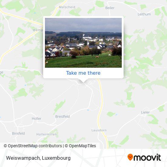Weiswampach map