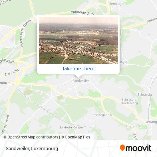 Sandweiler map