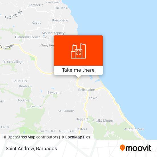 Saint Andrew map