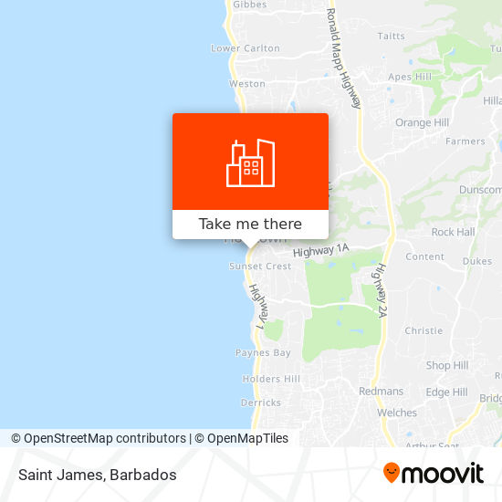 Saint James map