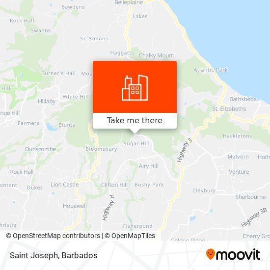Saint Joseph map