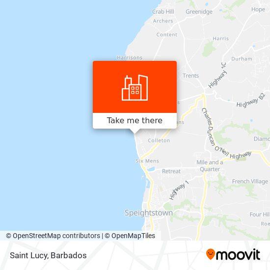 Saint Lucy map