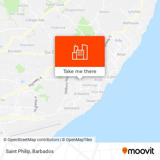 Saint Philip map