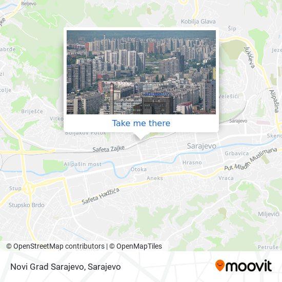 Novi Grad Sarajevo map