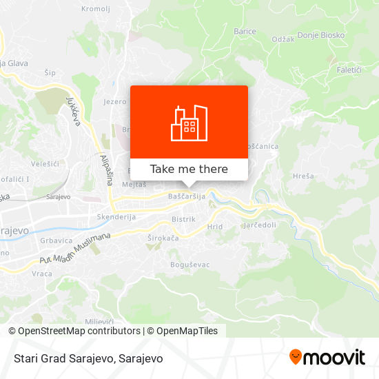 Stari Grad Sarajevo map
