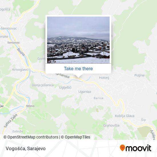 Vogošća map