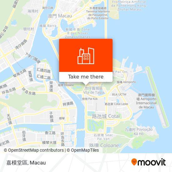 嘉模堂區 map
