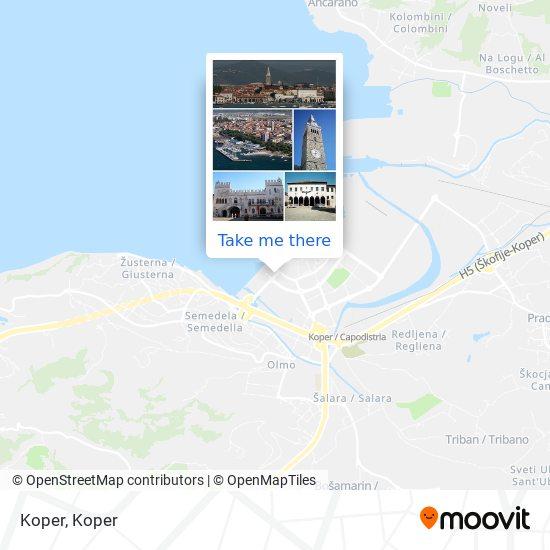Koper map