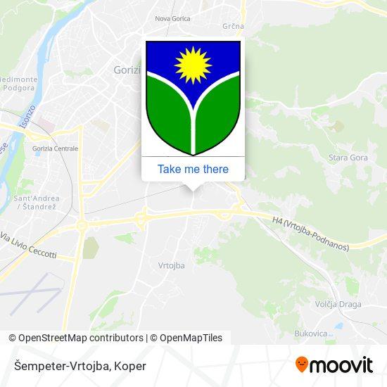 Šempeter-Vrtojba map