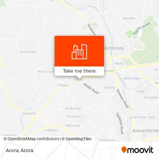 Accra map