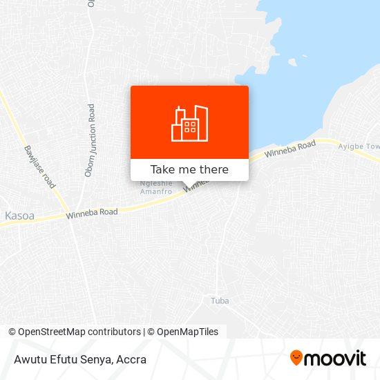 Awutu Efutu Senya map