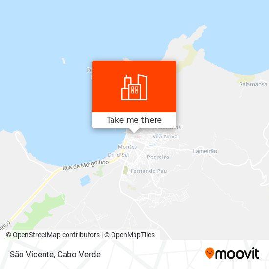 São Vicente mapa