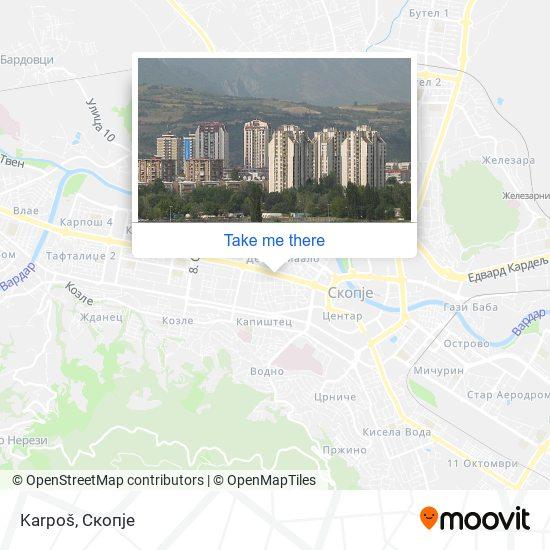 Karpoš map