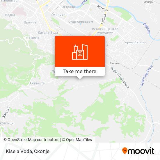 Kisela Voda map