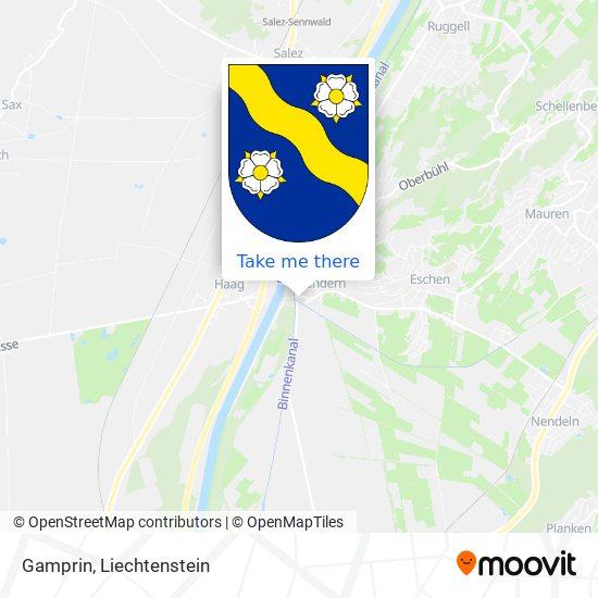 Gamprin map
