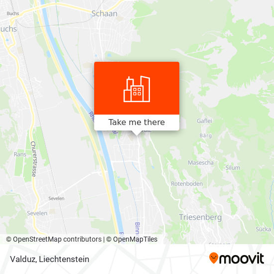 Valduz map