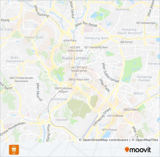 3 mrt & lrt Line Map