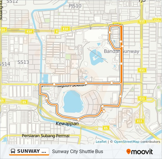 SUNWAY CITY bus Line Map