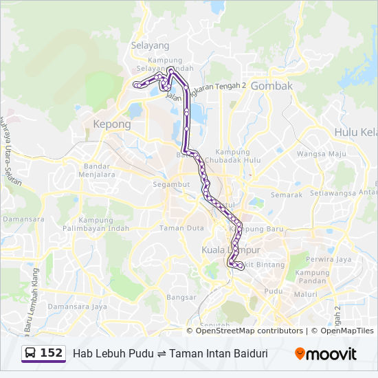 152 Route Time Schedules Stops Amp Maps