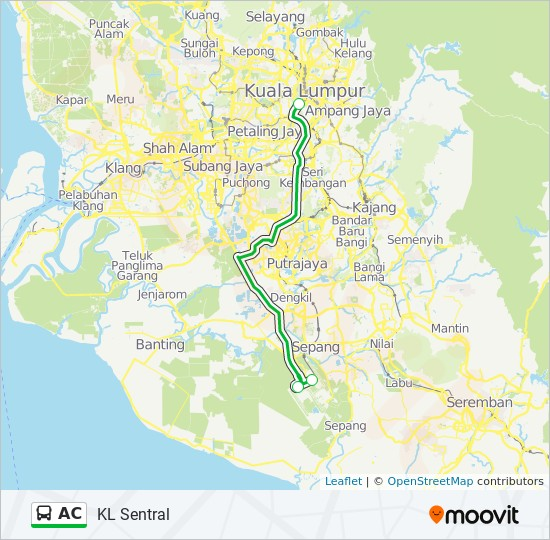 Kuala Lumpur Subway Map Pdf.Ac Route Time Schedules Stops Maps Kl Sentral