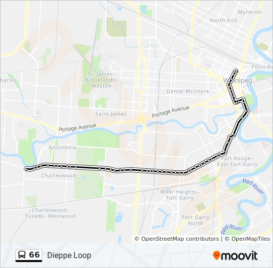 66 Route Time Schedules Stops Amp Maps Dieppe Loop